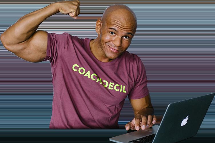 Cecil am Laptop